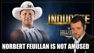 Norbert Feuillan is Not Amused - Jeff Jarrett au Hall of Fame 2018