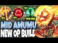 *NEW OP BUILD* Conqueror + Ravenous = AMUMU MONSTROUS HEAL 🔥 LoL Mid Lane Amumu s10 Gameplay