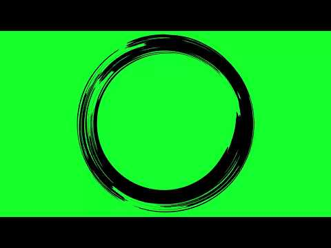 Animated Paint Circle - Green Screen Effect Overlay