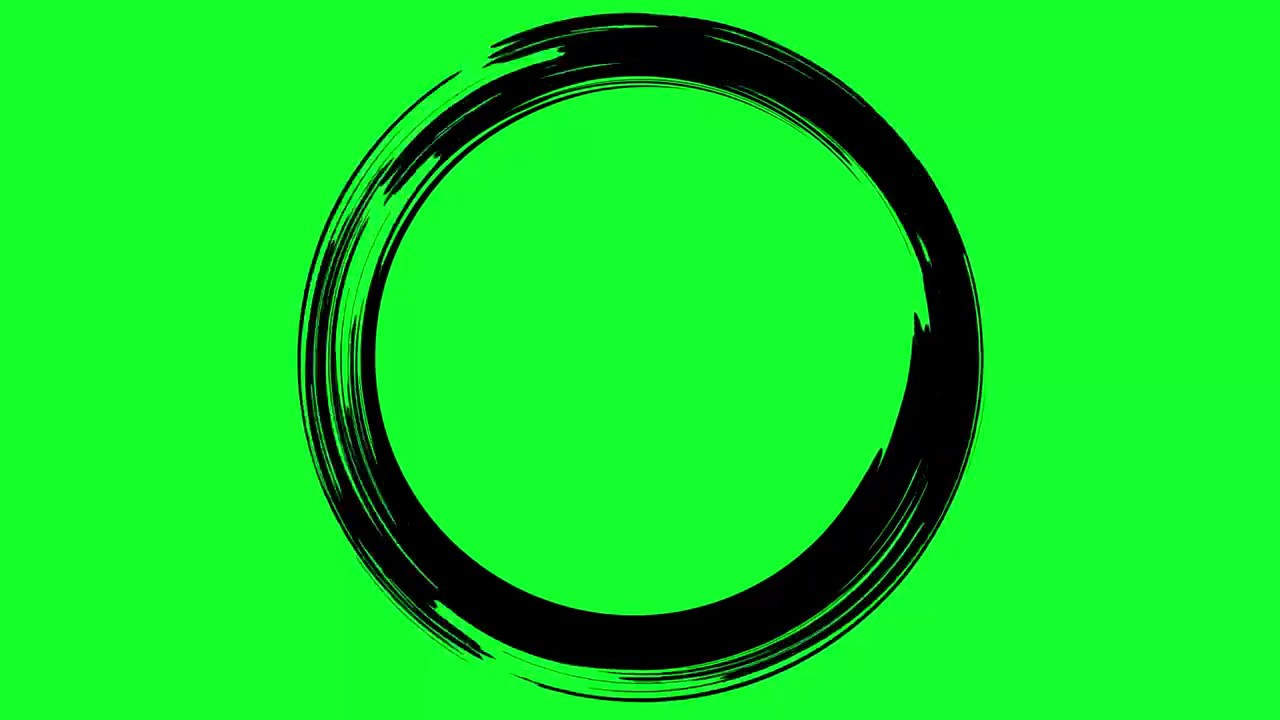 animated paint circle green screen effect overlay youtube