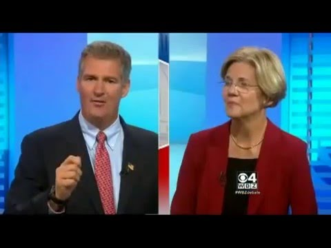 Senator Scott Brown and Elizabeth Warren debate Climate Change