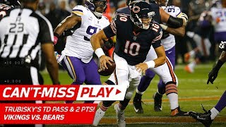 Trubisky's Crazy 1st Td & Tricky Two-point Conversion   🚨trick Play Alert🚨   Nfl Wk 5