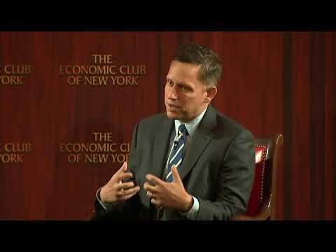 Peter Thiel talks about Bitcoin at the Economic Club of New York