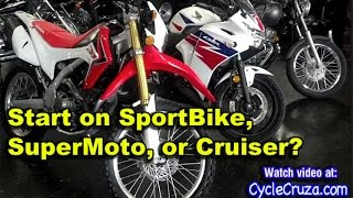 Start On Sport Bike, Cruiser or SuperMoto? | MotoVlog