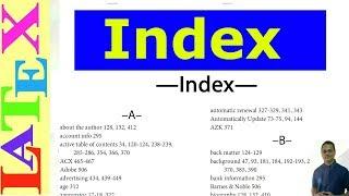 Index style Latex