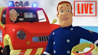 Fireman Sam New Episodes | LIVE 🔴 SAM VS FLAMES - 5 Full episodes 🔥 Kids Cartoon