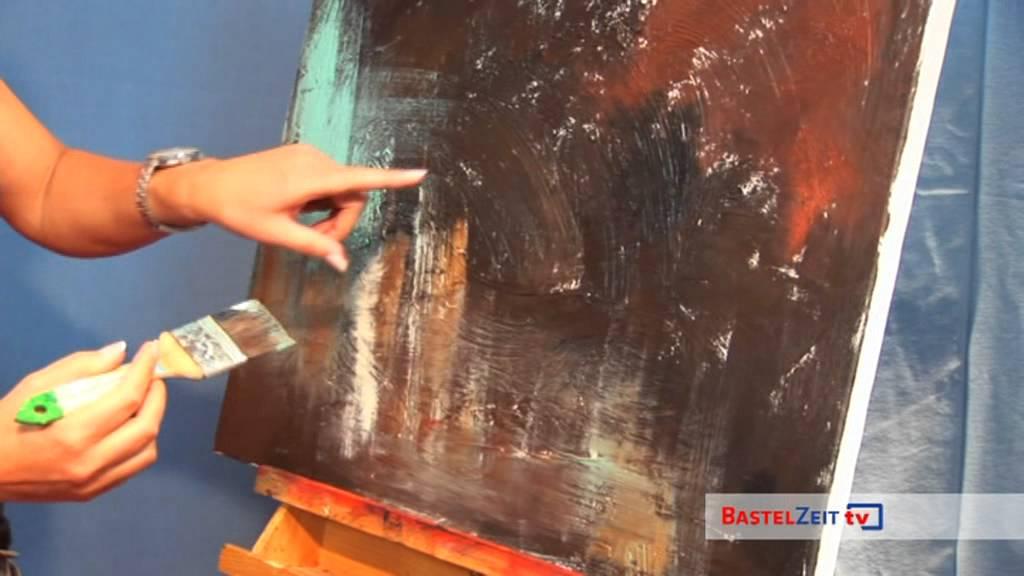 Acrylbild Schnecke Mit Strukturpaste Und
