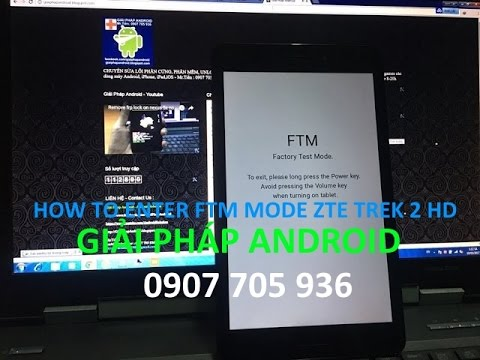 how to boot into FTM mode - Recovery mode factory data reset ZTE Trek 2 HD