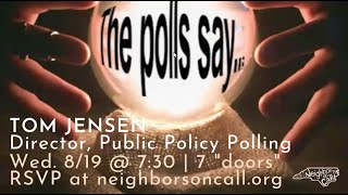 NOC Hosts Tom Jensen of Public Policy Polling