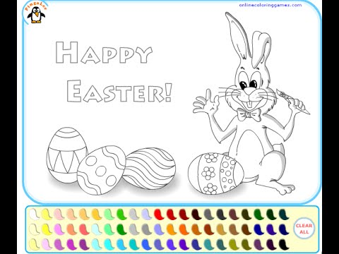 Easter Coloring Pages For Kids Easter Coloring Pages Youtube
