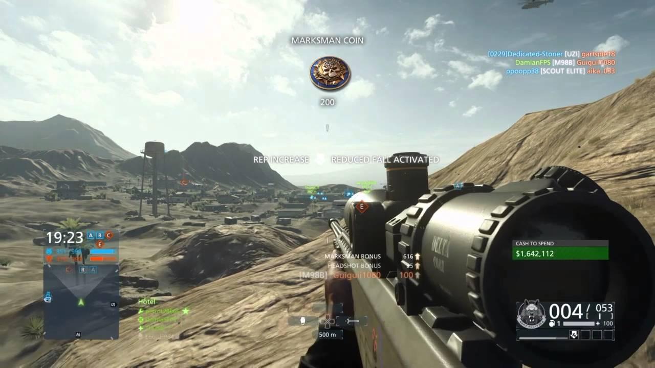 14x Mildot Reticle Scope  Long Range  Sniping  Battlefield Hardline  Youtube