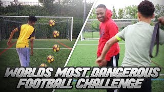 WORLDS most DANGEROUS FOOTBALL CHALLENGE - Worst decision of my life??