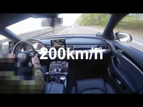 Audi A8L 4.2 TDi V8 T chasing fast Audi A6 POV Onboard on German Autobahn
