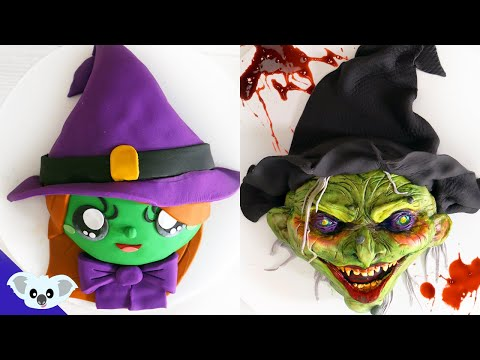 CUTE AND SCARY HALLOWEEN CAKE  AMAZING WITCH MONSTER!  | How to Birthday Party Cake | Koalipops