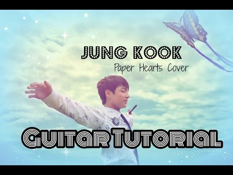 Jungkook Paper Heart acoustic guitar tutorial