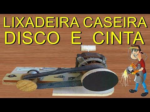 COMO FAZER LIXADEIRA COMBINADA CASEIRA, CINTA E DISCO PASSO A PASSO, FEITA COM SUCATA / SANDER