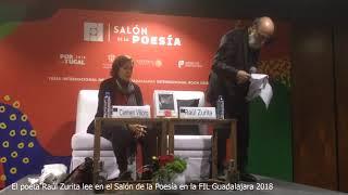 Raúl Zurita lee en el Salón de la Poesía en FIL Guadalajara