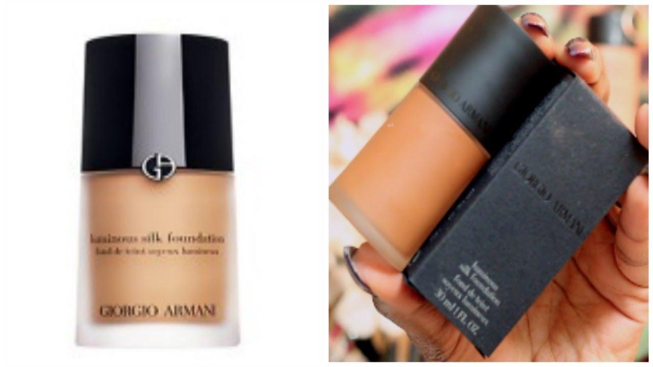 Foundation Friday Review | Giorgo Armani Luminous Silk ... Giorgio Armani Foundation