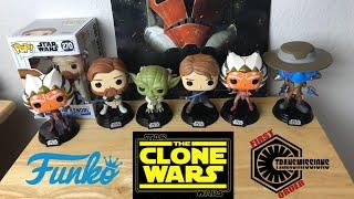 Funko Pop Star Wars: The Clone Wars Ahsoka, Obi-Wan, Anakin, Cad Bane, And Yoda Review