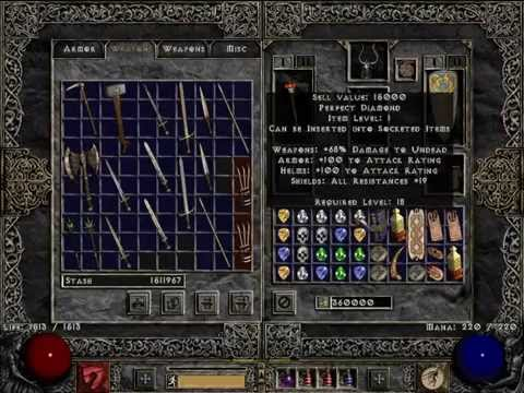 Diablo 2 LoD PlugY Single Player Diablo Clones & Anni Luck - YouTube