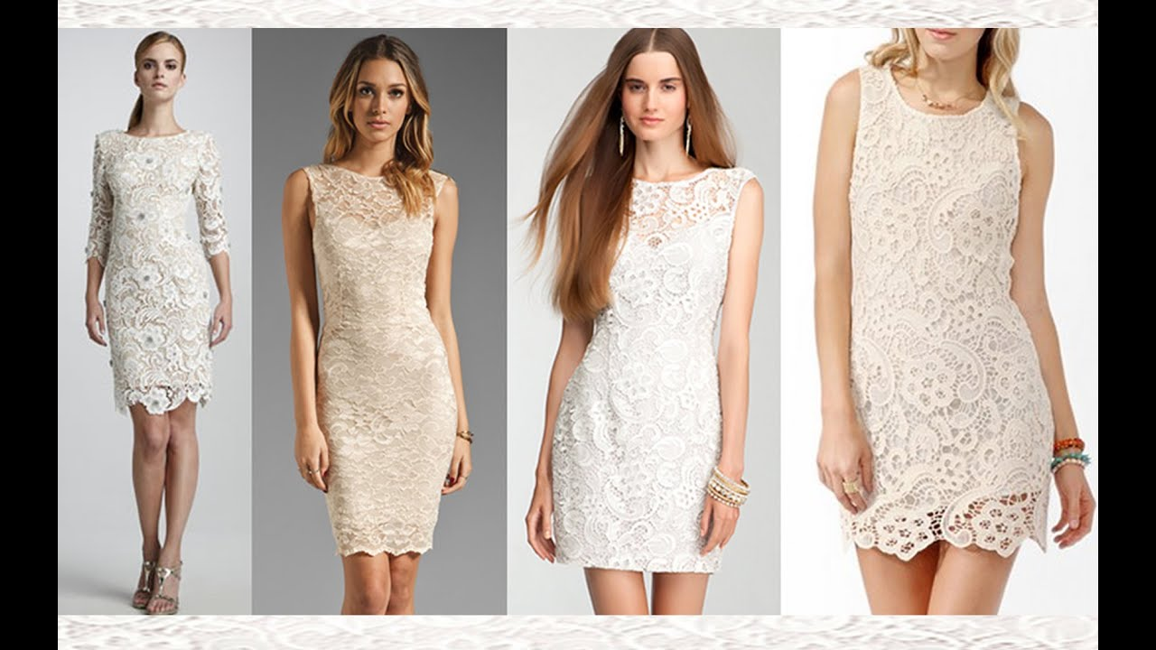 ca23732954 Top 100 Short white lace dresses
