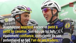 Portrait de Julian Alaphilippe, maillot jaune du Tour de France