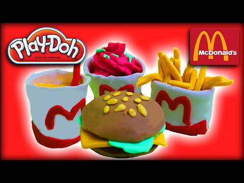 ♥ Play-Doh McDonald's Restaurant Cheeseburger French Fries McFlurry (Creation for Kids)