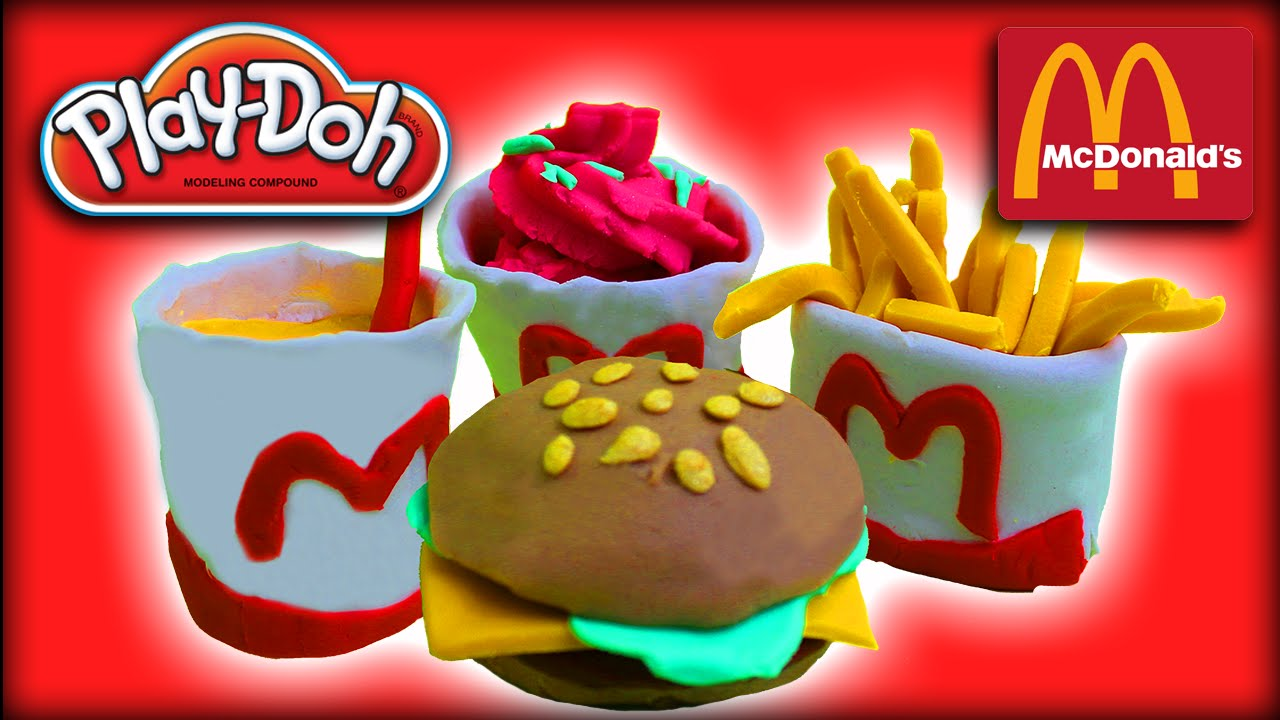 Play-Doh McDonald's Restaurant Cheeseburger French Fries ...