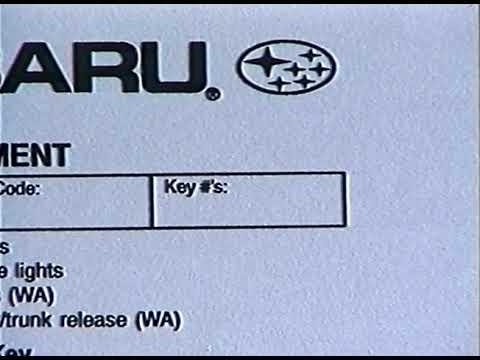 1998 Subaru Forester PDI Training Video