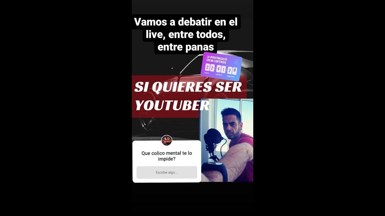 Tienes que convertirte en youtuber