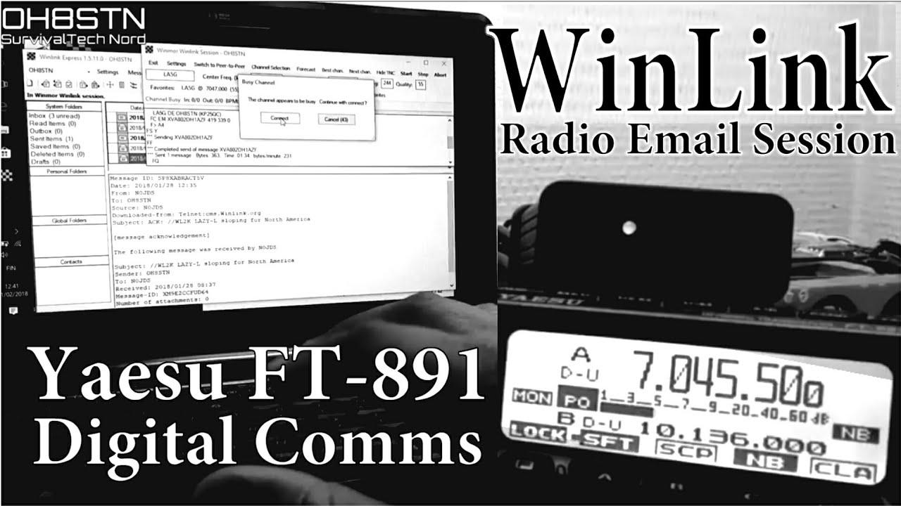 WinLink Radio Email with Yaesu FT-891 - Nerfd net - RF News