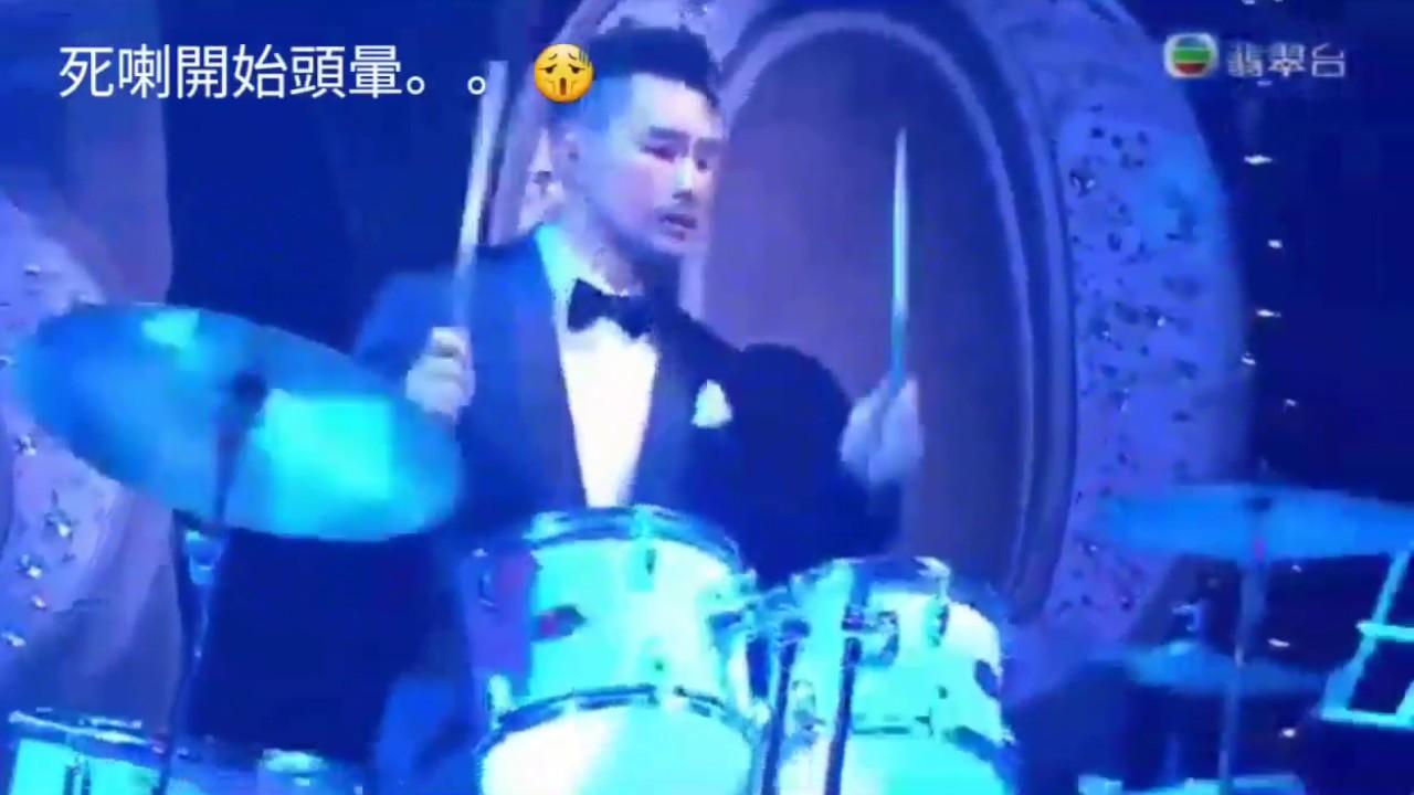 TVB 50周年臺慶群星蝦碌表演 (陳展鵬360度反地心吸力打鼓) - YouTube