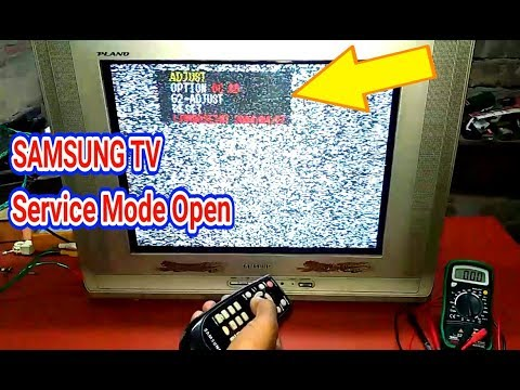 Samsung Tv Service Menu Open And Service Code Youtube