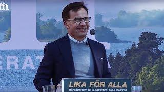Ulf Kristersson talar i Almedalen 2018