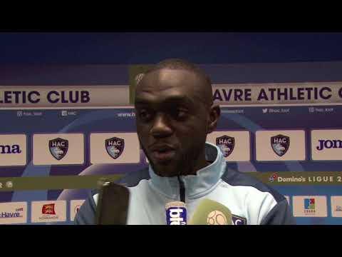 Après HAC - Valenciennes (1-0), réaction d'Amos Youga