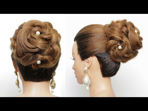 Hairstyle For Long Hair Tutorial. Bridal Updo thumbnail