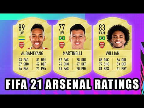 Fifa 21 Arsenal Player Ratings Predictions Biggest Upgrades Incomings Youtube