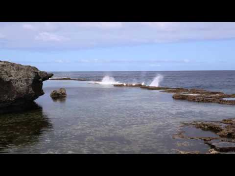 Tonga Tongatapu Huma blowholes Temps agité / Tonga Tongatapu Huma blowholes Wind and bad weather