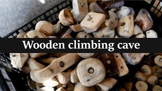 Cave sweet cave: Wooden climbing cave
