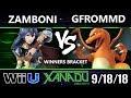S@X 268 Smash 4 -  Zamboni (Lucina) Vs.  GFromMD (Charizard) Wii U Winners 2