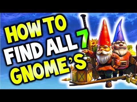 how to find all 7 gnome locations fortnite junk junction search the hidden gnome locations - fortnite junk junction location