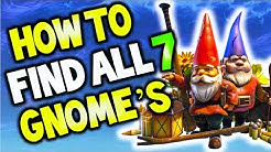 how to find all 7 gnome locations fortnite junk junction search the hidden gnome locations duration 2 04 - 7 gnomes fortnite