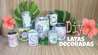 DIY do lixo ao luxo – latas decoradas