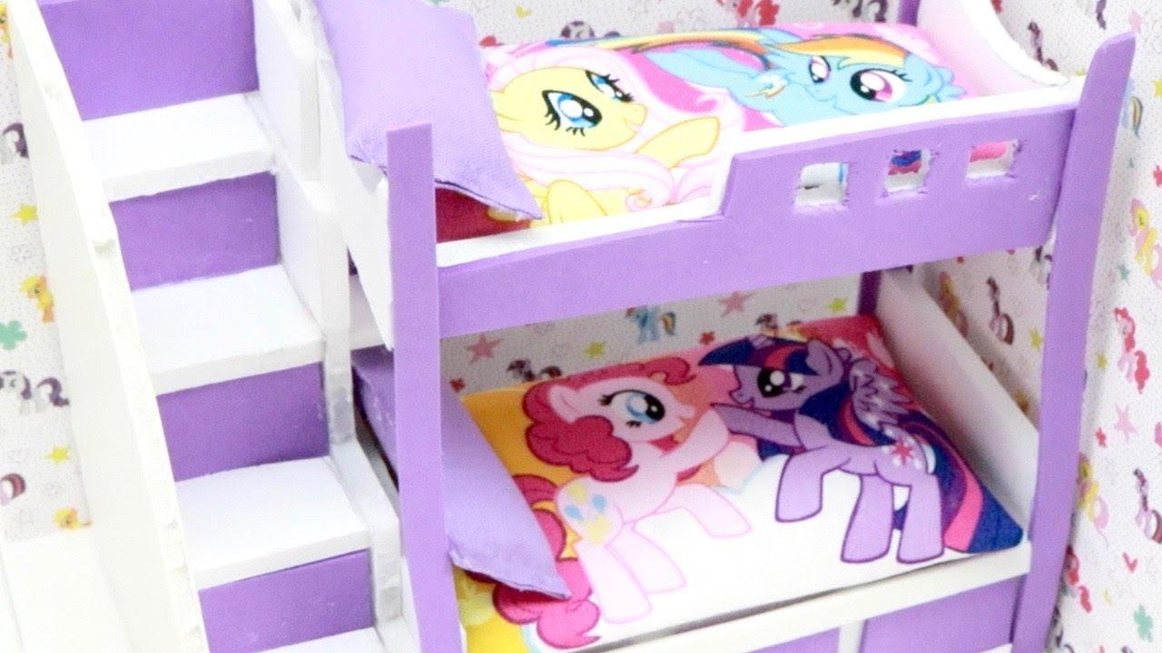Diy Miniature Dollhouse My Little Pony Bunk Bed Rainbow Dash Pinkie Pie Sparkle