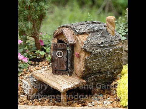 Beautiful Fairy Houses Made From Tree Stumps Ideas