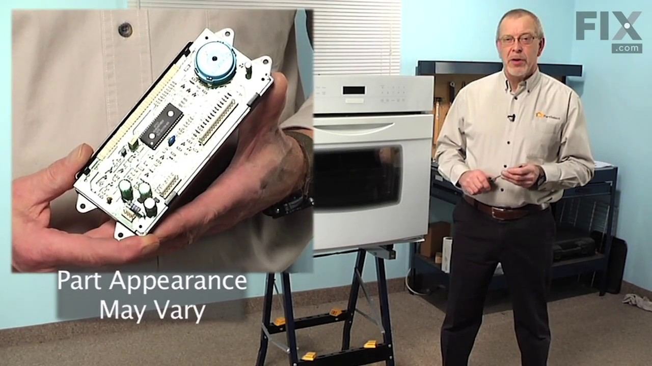 Jenn Air Wall Oven Repair How To Replace The Electronic Clock Circuit Board Timer 316434800 Repaircliniccom Control