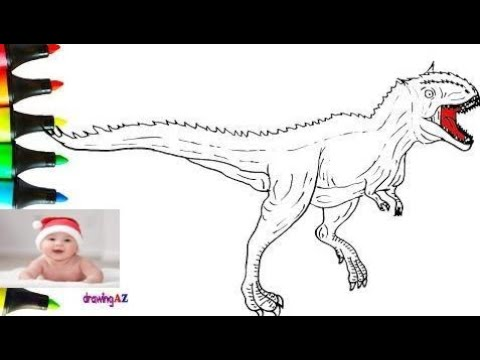How To Draw Carnotaurus Dinosaur In Jurassic World And Carnotaurus