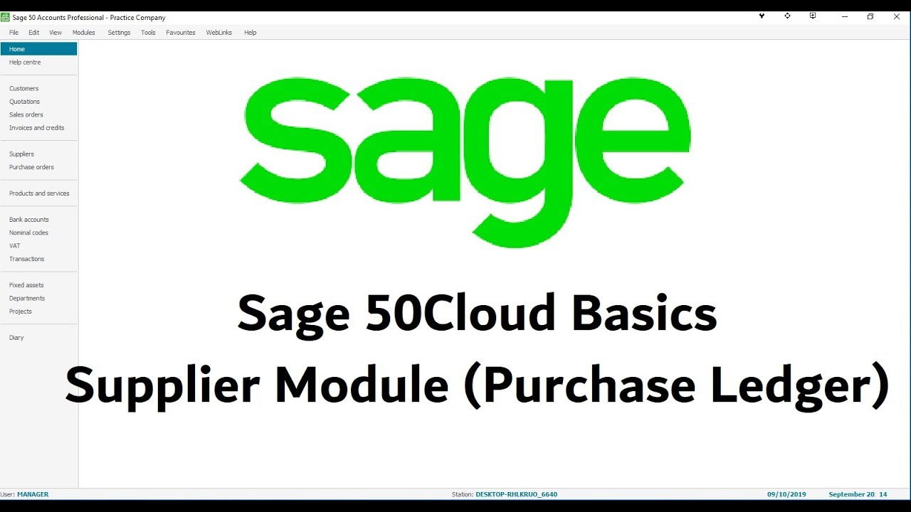 Sage 50Cloud Tutorial - Adding & Editing Suppliers - Lesson 7
