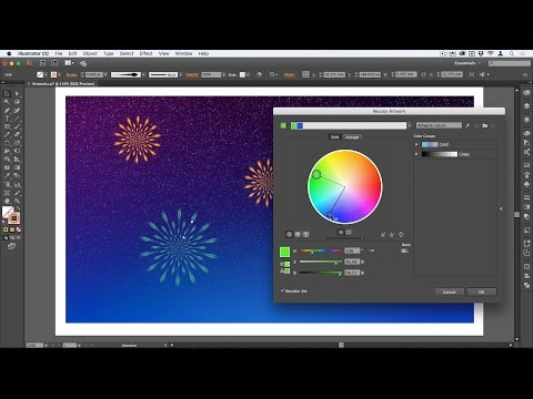 Make a Firework Burst in the night sky with Adobe Illustrator