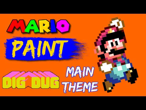 Mario Paint Composer - Dig Dug - Main Theme (Remix...sort of...not really)